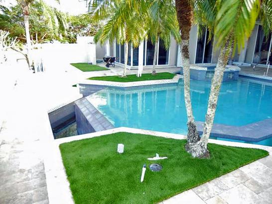 Artificial Grass Photos: Fake Lawn Winter Park, Colorado Landscape Photos, Above Ground Swimming Pool