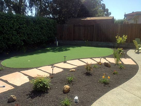 Artificial Grass Photos: Plastic Grass Rangely, Colorado Backyard Putting Green, Backyard Landscaping