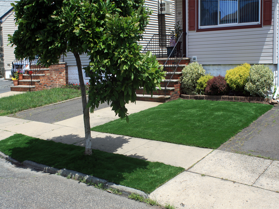 Synthetic Grass Commerce City Colorado Lawns Front Yard Landscaping